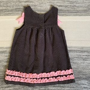 Wonderkids Dresses - Corduroy overall dress with French Poodle